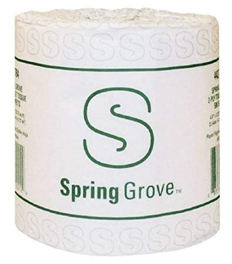 Spring Grove Toilet Tissue 2 Ply, White, 96 count