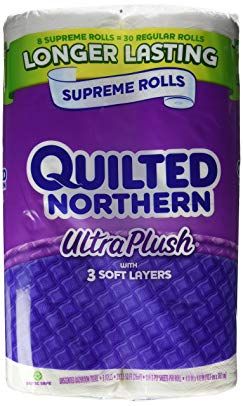 Quilted Northern Ultra Plush, 8 Supreme Rolls, Toilet Paper