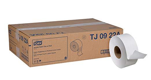 Tork TJ0922A Universal Jumbo Bath Tissue, 2-Ply, White, 3.6
