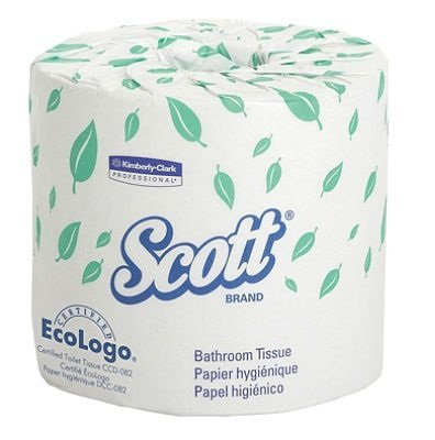 KCC 13607 SCOTT Standard Roll Bathroom Tissue, Case of 20 Rolls