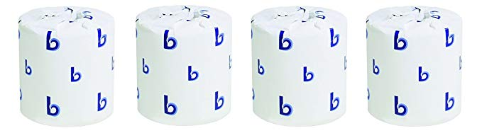 Boardwalk BWK 6144 Two-Ply Toilet Tissue, White, 400 Sheets/Roll (Pack of 96) (4-(Pack))