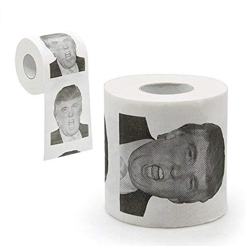 angju Donald Trump Humour Toilet Paper Roll Novelty Funny Gag Gift Dump with Trump