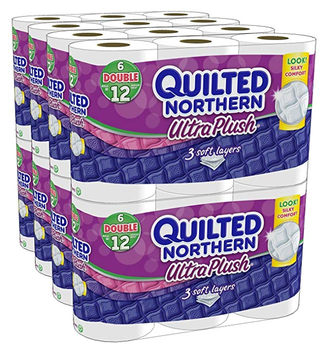 2 X Quilted Northern Ultra Plush Bath Tissue, 48 Double Rolls