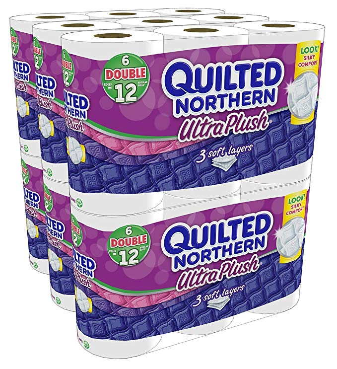 Quilted Northern Super Pack Ultra Plus Bath Tissue, New Mega Size Package 96 (Double Rolls)