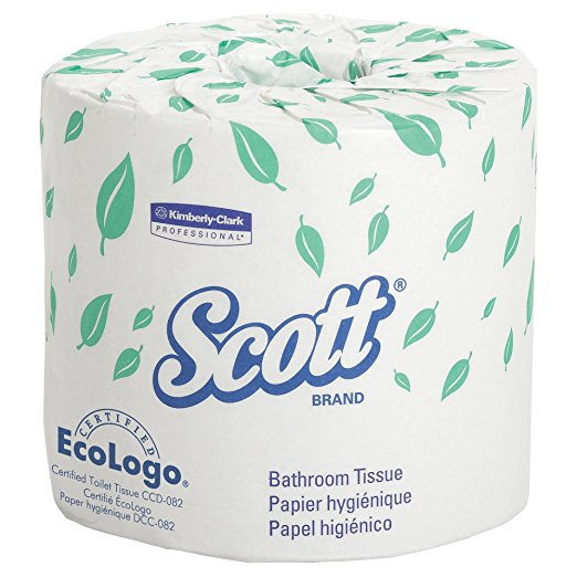 Scott Essential Professional Bulk Toilet Paper for Business (05102), Individually Wrapped Standard Rolls, 1-PLY, White, 80 Rolls/Case, 1,210 Sheets/Roll