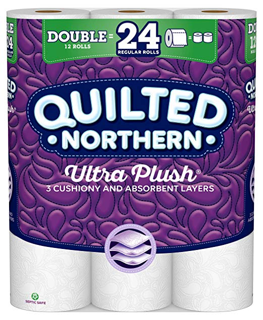 Quilted Northern Ultra Plush Toilet Paper, Pack of 12 Double Rolls, Equivalent to 24 Regular Rolls